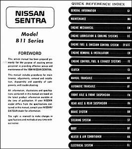 1984 Nissan Sentra Original Repair Shop Manual 84 Oem