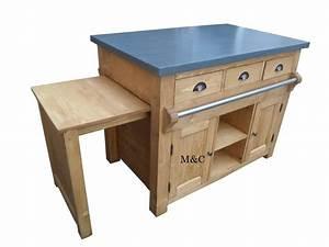 ilot central cuisine simple merveilleux ilot de cuisine With delightful meuble cuisine style campagne 8 ilot central cuisine en bois uzes