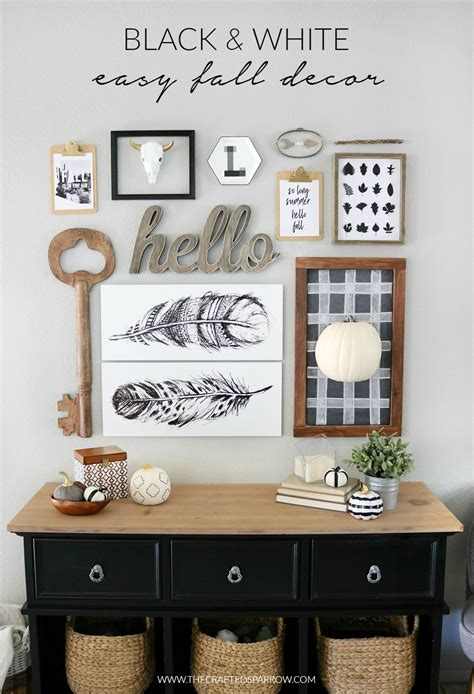 Decor In Black And White by Black White Easy Fall Decor