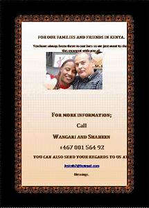e card invitation to sheila shaheen wedding kenya With wedding invitation cards nairobi