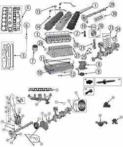 Explosionszeichnung Motor Jeep Zj  Zg Grand Cherokee 1993  1998