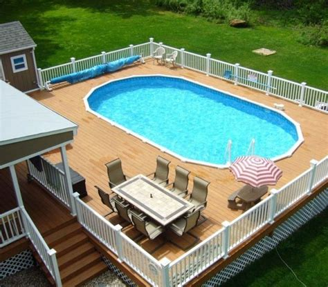 pictures of oval above ground pool decks 1000 ideas about oval above ground pools on