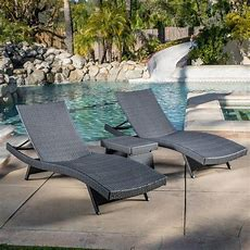 Olivia Outdoor Grey Wicker 3piece Adjustable Chaise