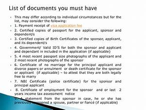 checklist for fiance visa in australia With document checklist tourist visa australia