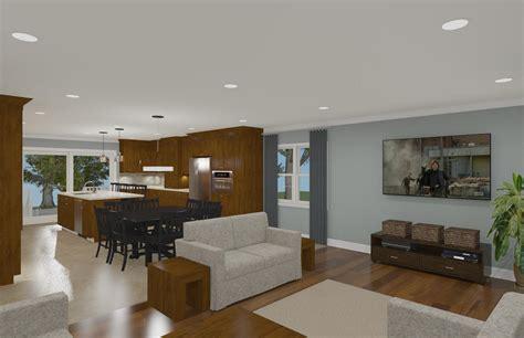 open floor plan concept design build planners