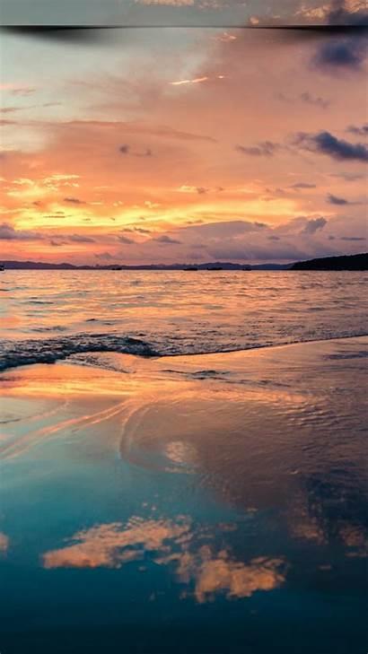 Wallpapers Mobile Sky Sunset 4k Ocean Sea
