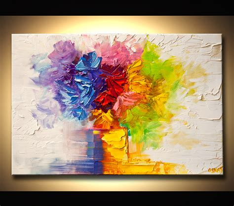modern flower paintings abstract modern and landscape paintings by osnat