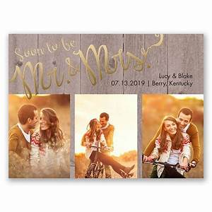 Soon to Marry Foil Save the Date Card