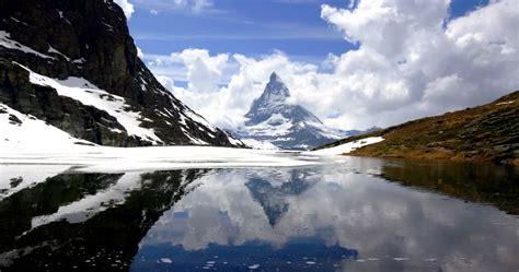 matterhorn zermatt switzerland timelapse  stock