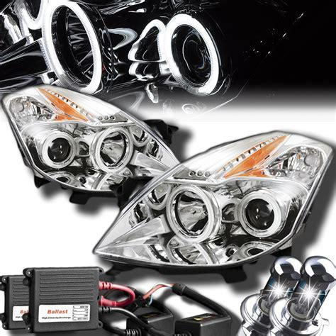 altima nissan headlights halo projector coupe xenon led ccfl hid chrome