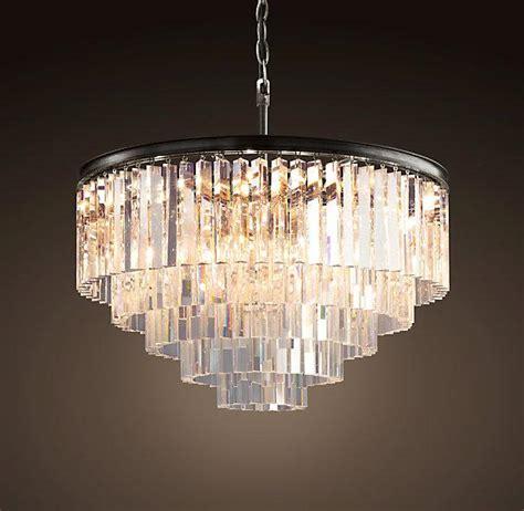 Odeon Chandelier 1920s tiered odeon glass fringe 5 ring chandelier