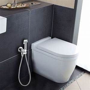 ensemble mural douchette wc et robinet d39arret paloma With carrelage adhesif salle de bain avec profile encastrable led