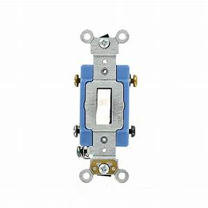 Leviton 30 Amp Industrial Grade Heavy Duty 3-way Toggle Switch  White-3033-2w