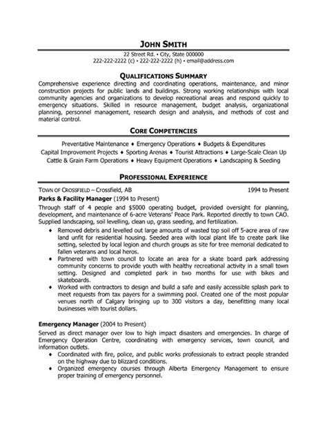 Downloader With Resume Facility by Parks And Facility Manager Resume Template Premium Resume Sles Exle