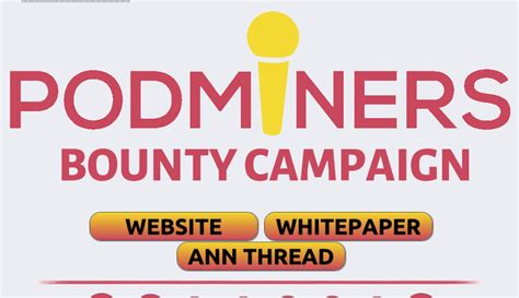 PodMiners ICO Bounty Campaign   ICO Bounty listing by ...