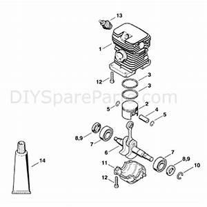 Wiring Diagram  34 Stihl Ms170 Chainsaw Parts Diagram