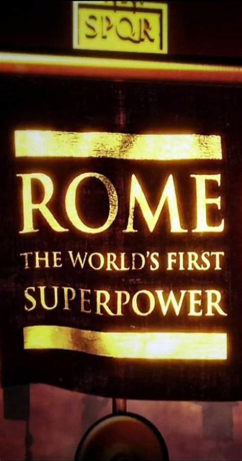 Rome: The World's First Superpower (TV Mini-Series 2014 ...