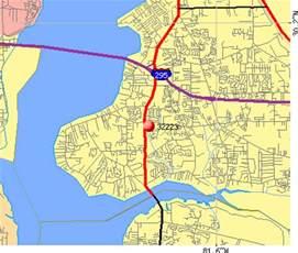 Jacksonville Zip Code Map