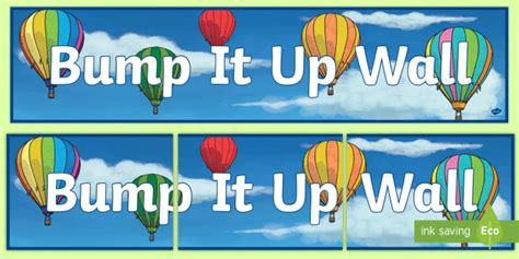 * New * Bump It Up Wall Display Banner  Learning Intentions
