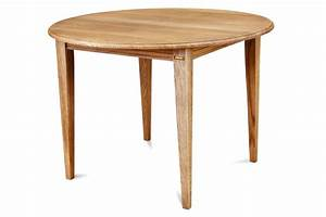table ronde extensible de salle a manger en chene massif With table ronde bois massif