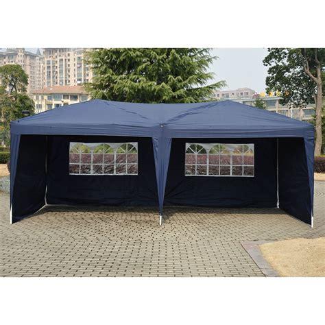 pop up canopies 10 x 20 pop up tent canopy w 4 sidewalls 5 colors