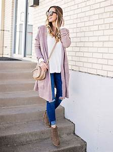 Dusty Pink Cardigan u0026 Ankle Booties - LivvyLand | Austin Fashion and Style Blogger