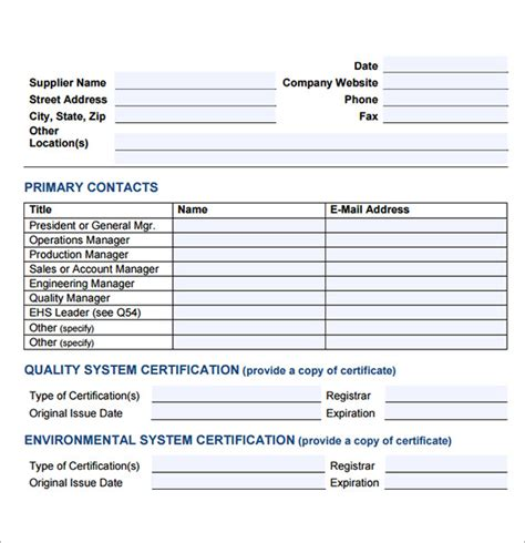Vendor Performance Evaluation Template by 7 Sle Vendor Evaluations Sle Templates