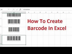 how to create barcode in excel by simple way youtube With create barcode in excel