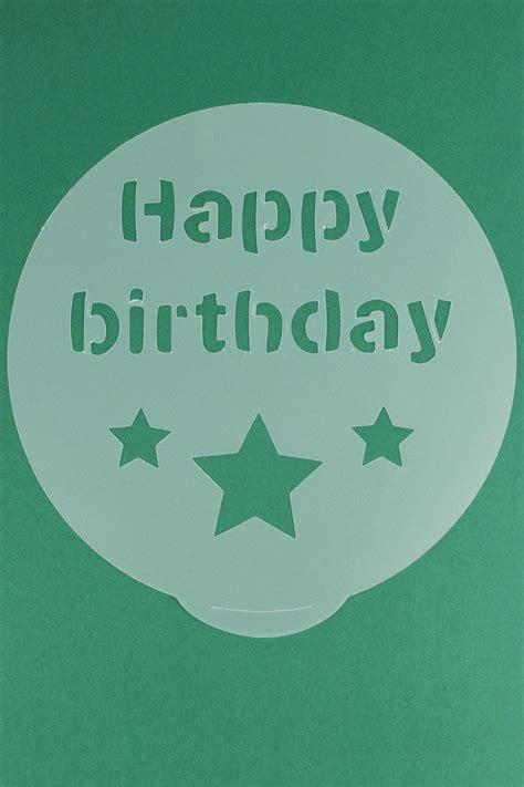 cake decorating stencils present shooting star