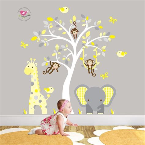 Wandtattoo Kinderzimmer Gelb by 1000 Ideas About Elephant Wall Decal On
