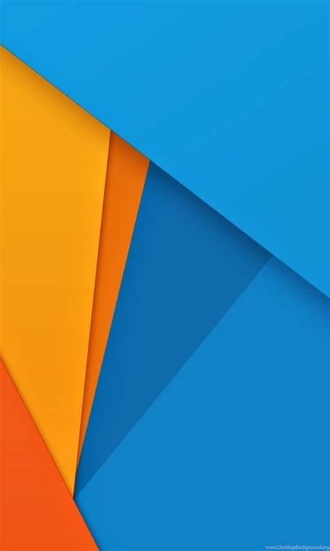 Blue Material Background by Orange Yellow Blue Material Design Wallpapers H Desktop