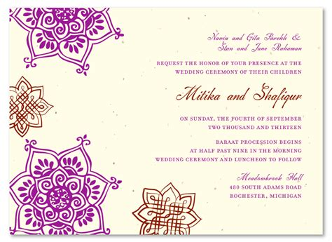 unique wedding invitations  seeded paper indian