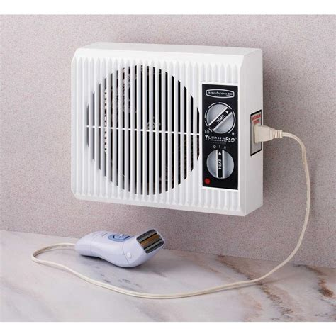 small wall l plug in wall outlet fan space heater small electric bathroom