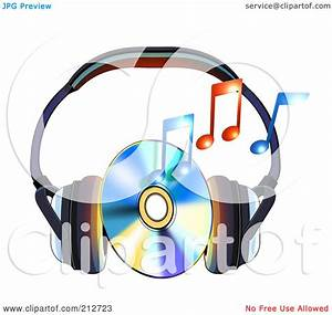 Royalty-Free (RF) Clipart Illustration of a Cd Between ...
