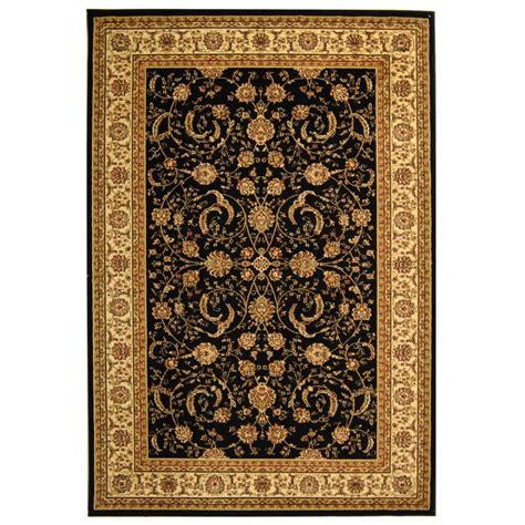 area rugs black safavieh lyndhurst black ivory 8 ft x 11 ft area rug 1335