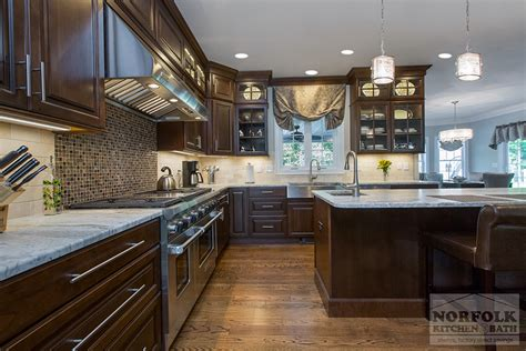 norfolk kitchen and bath new cherry kitchen remodel with coffee finish