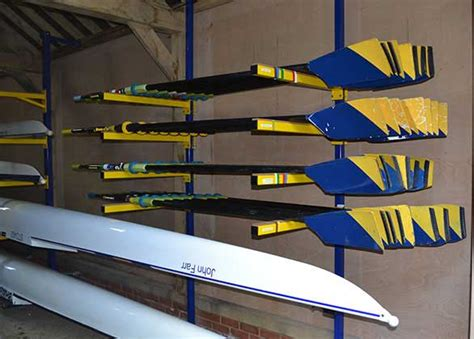 Efficient Boat Oars by Rowing Uk Boathouse Racking Systems