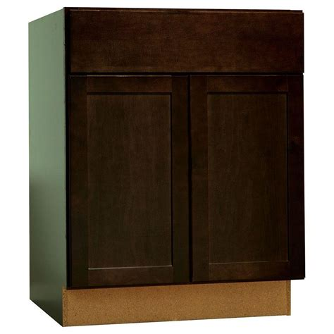 kitchen cabinet drawer glides hton bay shaker assembled 27x34 5x24 in base kitchen 5374