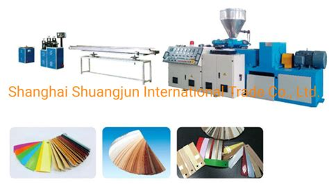 china pvc edge banding tape extrusion  slitting printing machine china pvc edge banding
