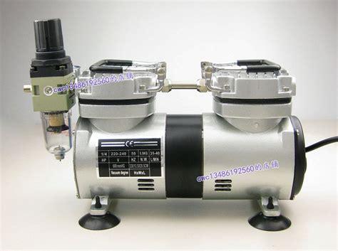 high quality 110v or 220v dual motor protable mini vacuum air compressor air for air brush