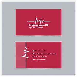 Red medical business card template vector free download for Medical business card templates