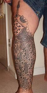 tibetan tattoo design on leg | BusBones