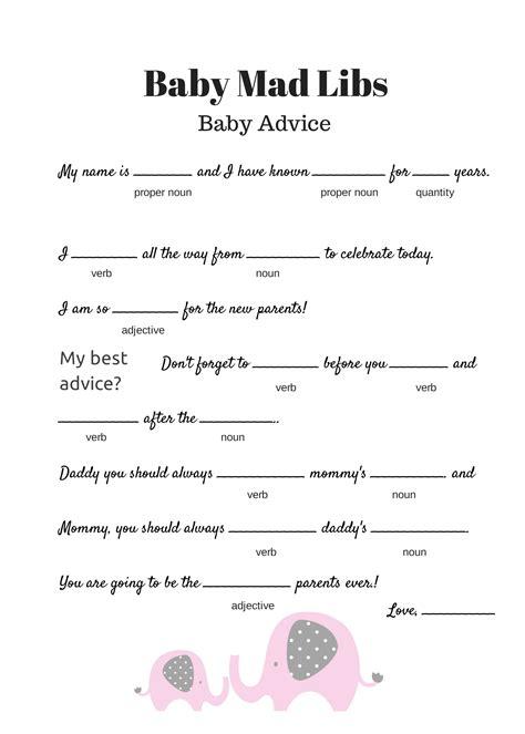 Free Baby Shower Games Printable Worksheets Wedding