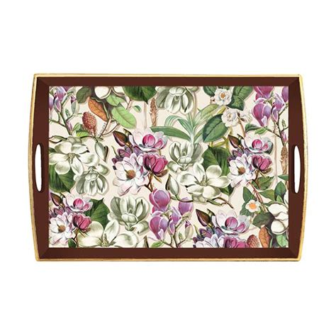 michel design works trays michel design works large wooden tray magnolia