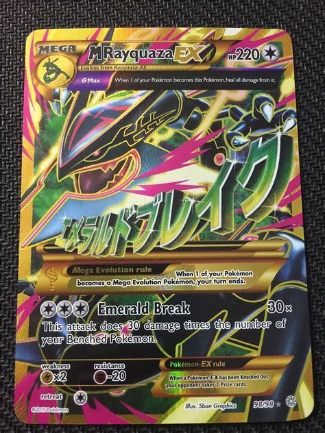 Pokemon Tcg Xy Ancient Origins Shiny Mega Rayquaza Ex 98