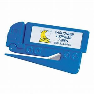 magnetic 18 wheeler letter opener promotional magnetic With letter opener with magnetic back