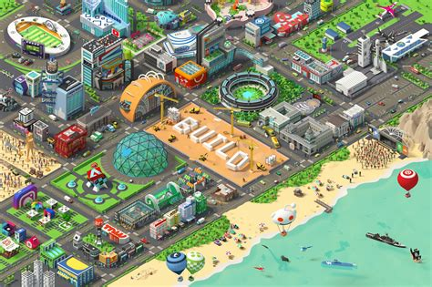 product   week  isometric city poster