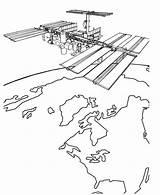 Satellite Coloring Designlooter Spaceship Earth sketch template