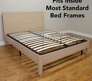 Europa Wood Slat  U0026 Metal Bed Frame