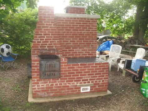 build custom pit custom built brick smoker with grill deck and patio